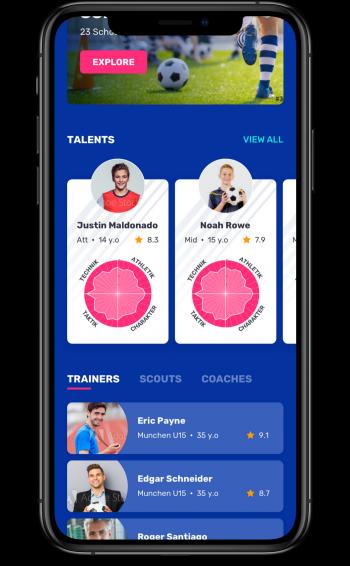 Verwalte alle Deine Kontakte. Trainer, Spieler – alles übersichtlich geordnet.