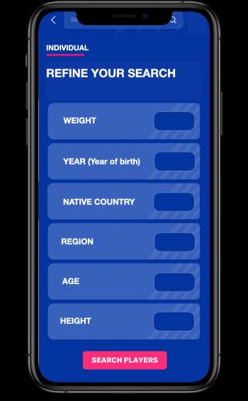 Filtert das Suchergebnis nach Alter, Region oder Spielklasse...